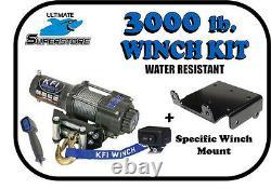 Kfi 3000 Lb Winch Mount Kit 09-21 Polaris Sportsman 400 500 550 570 800 850 1000