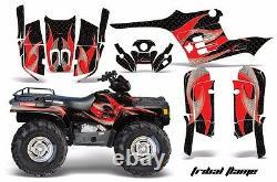 Kit Graphique Atv Decal Wrap Pour Polaris Sportsman 400 500 1995-2004 Tribal R K