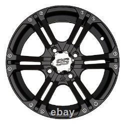 Nouveau -itp Ss212 Wheels 4 Rims 14 Set Sportsman 700 Polaris 02-09 Noir