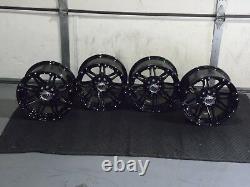 Polaris Sportsman 450 14 Sti Hd3 Blk Aluminium Atv Wheels Complete (set4) Pol3ca
