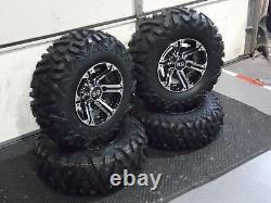 Polaris Sportsman 450 25 Quadking Atv Tire & Viper M/b Kit De Roue Pol3ca Bighorn