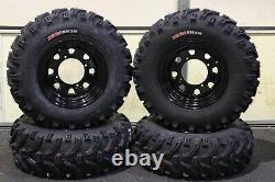 Polaris Sportsman 500 25 Kenda Bear Claw Atv Tire Itp Noir Atv Roue Kit Pold