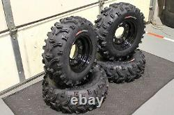 Polaris Sportsman 500 25 XL Bear Claw Atv Tire Itp Black Atv Wheel Kit Pold