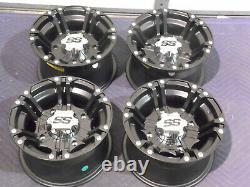 Polaris Sportsman 570 12 Itp Ss212 Blk Aluminum Atv Wheels Complete Set4 Pol3ca