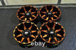 Polaris Sportsman 570 14 Sti Hd6 Orange Atv Wheels (set 4) Garantie De Vie Pol3ca