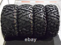 Polaris Sportsman 570 25 Quadking Atv Tire & Viper Blk Wheel Kit Pol3ca Bighorn