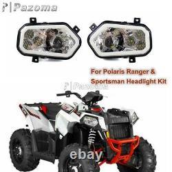 Pour Polaris Sportsman Rzr 400 450 570 800 900 Xp4 Utv Phare Led Avec Bague Halo