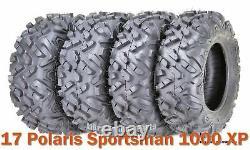 Set 4 Pneus Vtt Utv 26x8-14 & 26x10-14 Pour 17 Polaris Sportsman 1000 Xp