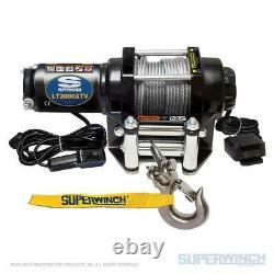 Superwinch Lt3000 12v Utilitaire De Vtt Winch 3000 Lb Capacité Avec Corde En Acier 50'